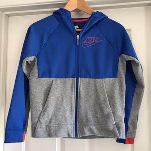Nike Boy's Blue/Gray Full Zip Hoodie Size M